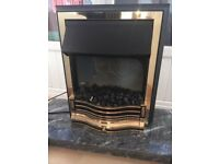Dimplex Electric Fire with Grey Marble Base