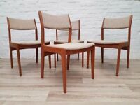 Four Vintage D-Scan Dining Chairs (DELIVERY AVAILABLE)