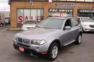 2008 BMW X3 3.0i/Panoramic Sunroof/Leather