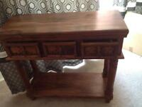 Hathi console table with 3 drawers