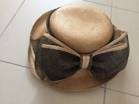 Occasion Bermona Bow Hat: made of 100% Sisal