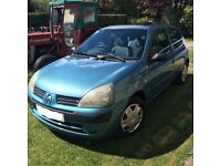 Renault Clio expression 1.2 petrol 2004 MOT up to March 2018