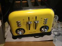Yellow Morphy Richards toaster