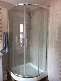 Shower doors, base and shower fixing