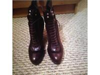 LK Bennett brown leather boots