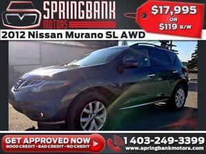 2012 Nissan Murano SL AWD w/Leather, Sunroof, Navi $119B/W INSTA