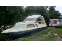 MICROPLUS 571 3 BERTH CRUISER AND 8HP ELECTRIC START 4 STROKE OUTBOARD WITH LANCASTER CANAL MOORING
