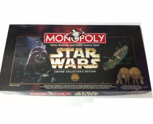 STAR WARS MONOPOLY LIMITED COLLECTOR'S EDITION COMPLETE