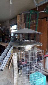 Stainless Steel Chimney Cap 8' with Cage and Pipe