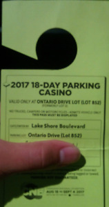 Canadian National Exhibition Season Parking Pass