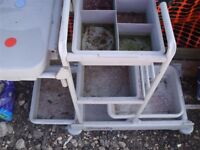 useful trolley, gardening, cleaning, multiple containers/trays