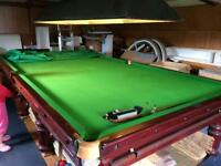 Snooker table full size antique