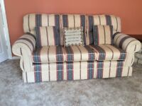Settee three seater and matching armchair