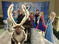 FROZEN PHOTOBOOTH COMPRISING OF BACKDROP, SLEDGE AND CHARSCTERS