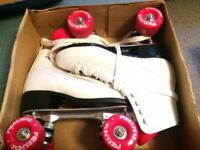 FreeSport roller skates - Women's size 5 - White and pink - never been used