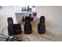 Phillips cordless phone with Answering machine