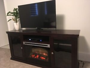 Electric fireplace tv stand console