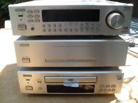 Denon Hi-Fi stacking stereo system.