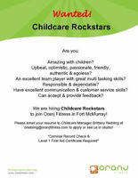 Childcare Attendent