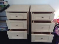 A pair of bedside cabinets in excellent condition.
