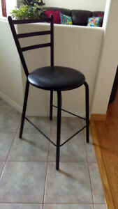 Steel Frame Bar Stools Set of 4