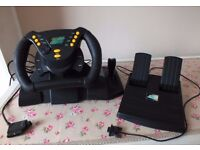 Jordan Grand Prix Racing Wheel and Pedals for Playstation