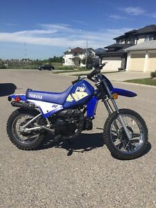 2001 Yamaha PW80 and 1987 Honda XR200
