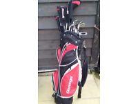 Slazenger bag and clubs
