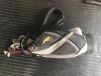 Wilson Golf Clubs, Powacaddy bag and trolley