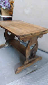 Vintage solid wood side table $45 takes