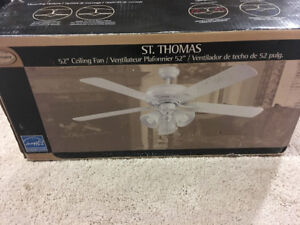 Ceiling fan - white - 52 inch - never used
