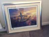 Signed print of final encounter by Michael turner number 650/850
