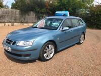 2007(57) Saab 9-3 1.9TiD ( 150ps ) SportWagon Linear Sport Anniversary 6sp Blue