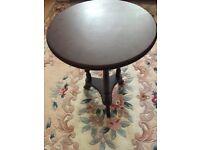 Mahogany circular side table