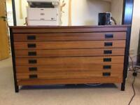 Large Wooden plan chest