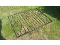 "Wrought Iron Gates 92"" x 3' 334 x 91.5 cm"
