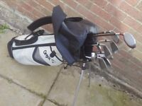 Golf clubs with bag including taylor made driver