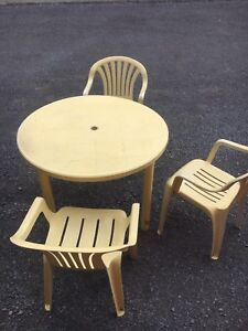 Patio table and chairs great for the kids