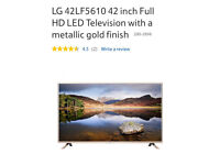 """LG 42"""" Full HD LED TELEVISION as New"""