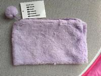 37x Tesco purple fluffy pencil cases (New with Tags)