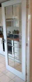 internal door chrome glazed