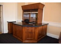 Bar Unit / Counter with Lockable Shutter