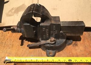 Used Chas Parker Swivel Base Bench Vise No. 973 1/2