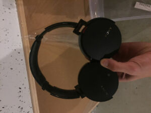 Sony - Extra Bass Wireless Over-the-Ear Headphones - Black