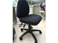 Black desk chair., adjustable height and back. Great condition. Only £15
