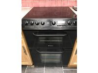 Hotpoint double oven and 4 eye electici hob