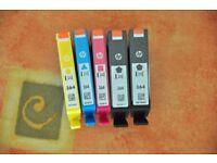 HP364 Printer Cartriges for HP 5510 printer. Cyan, Magenta, Yellow & 2 Black