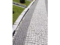 Natural Black Granite SWEDISH Cobbles / Setts 100 mm x100 mm x100 mm ( 1 tonne )