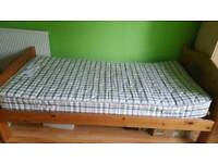 Single bed frame+mattress