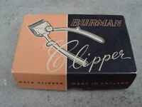 Vintage Burman Hair Clippers Retro Boxed Manual Clippers R